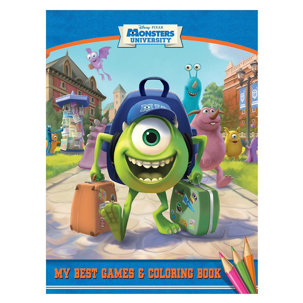1st Kid - Monsters University Games & Coloring Book A4 Mod38