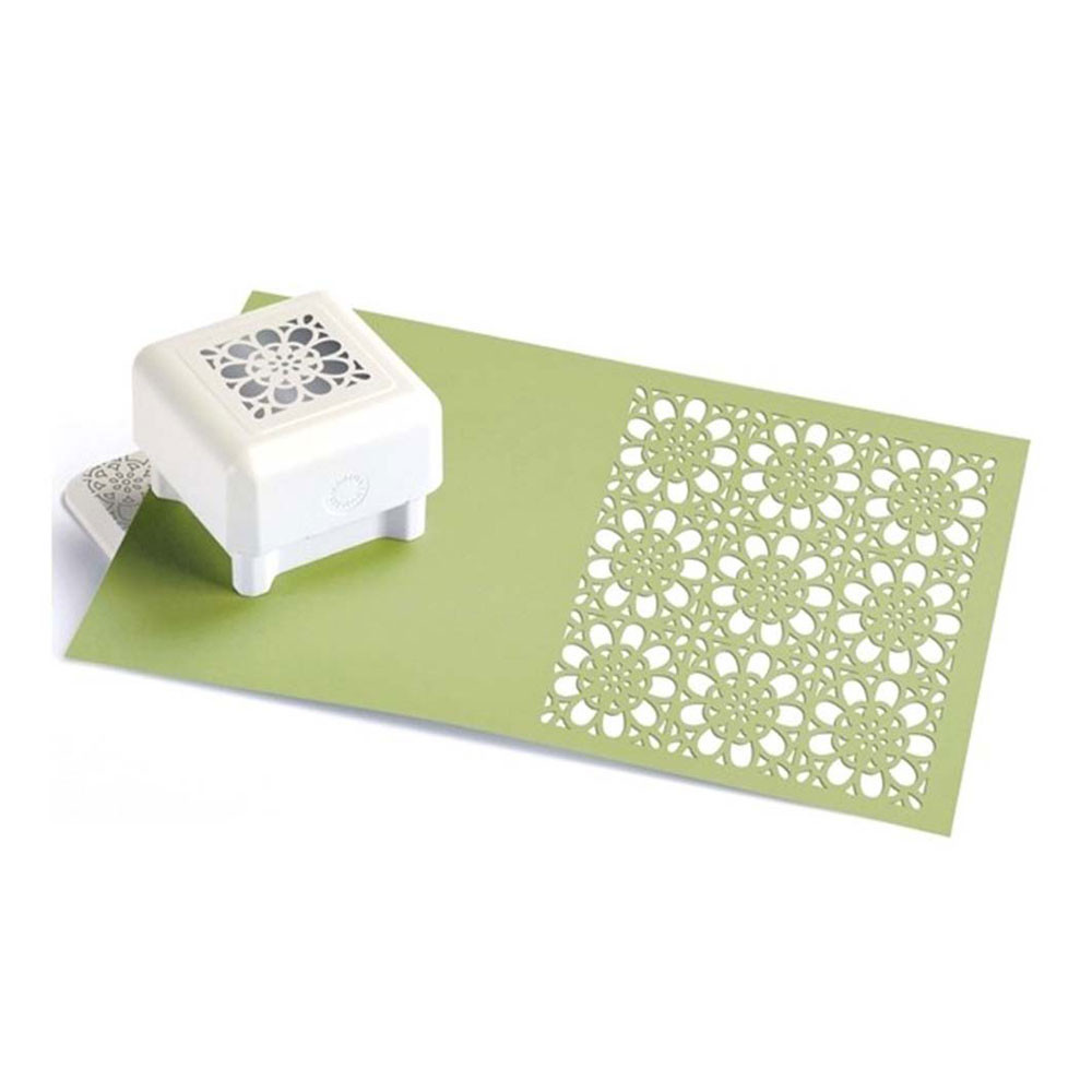 Martha Stewart Punch All Over The Page Pattern Flower