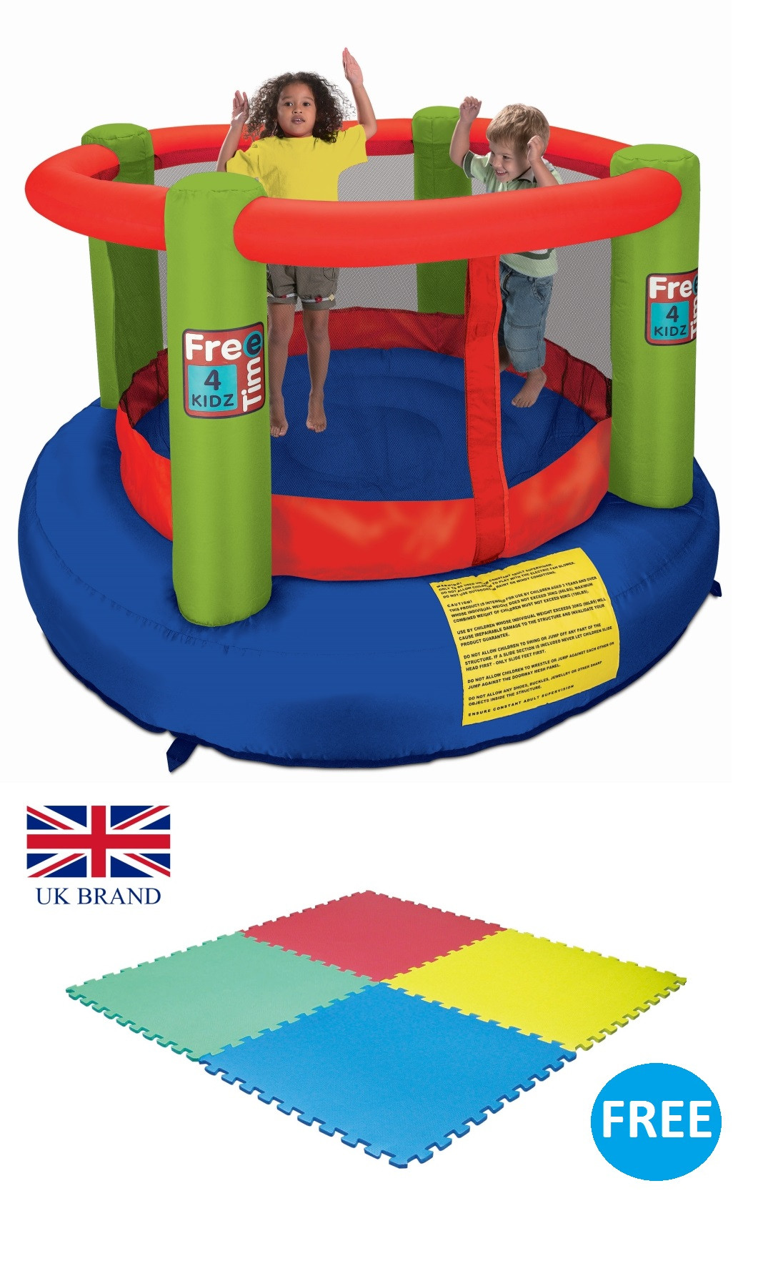 FreeTime4Kidz Bounce Around Trampoline with FREE 4pcs Activity