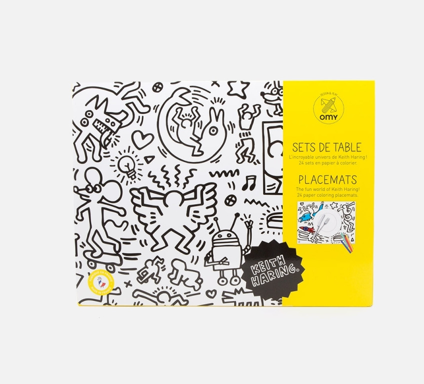 Coloring Placemats - Keith Haring