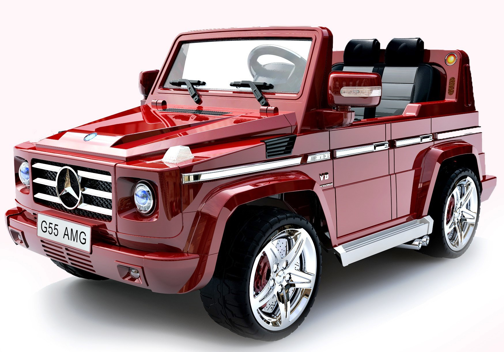 mercedes g55 amg ride-on - metallic red