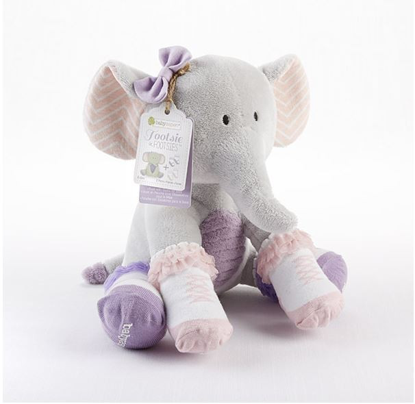 Baby Aspen Tootsie In Footsies Plush Elephant And Socks For Baby