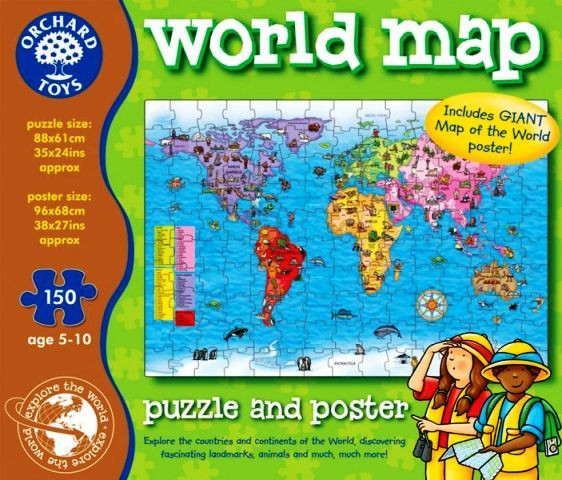 Orchard toys world map puzzle and poster gumiabroncs Choice Image