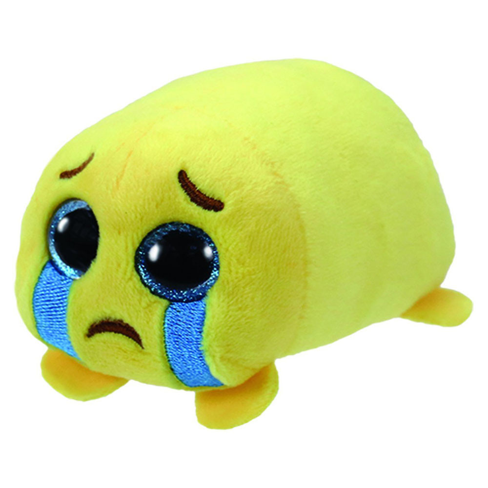 ty teeny emoji sad cry face 2 yellow