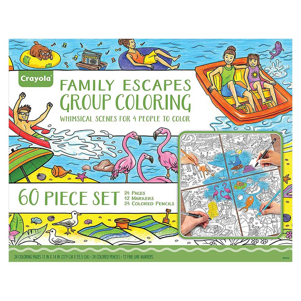 Crayola - Escapes Group Coloring Kit