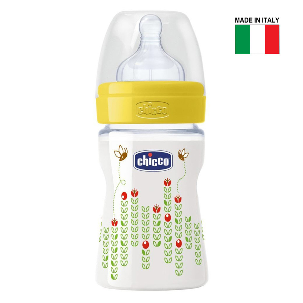 4d1d78204 Chicco Wellbeing 150ml Baby Bottle, Silicone Teat