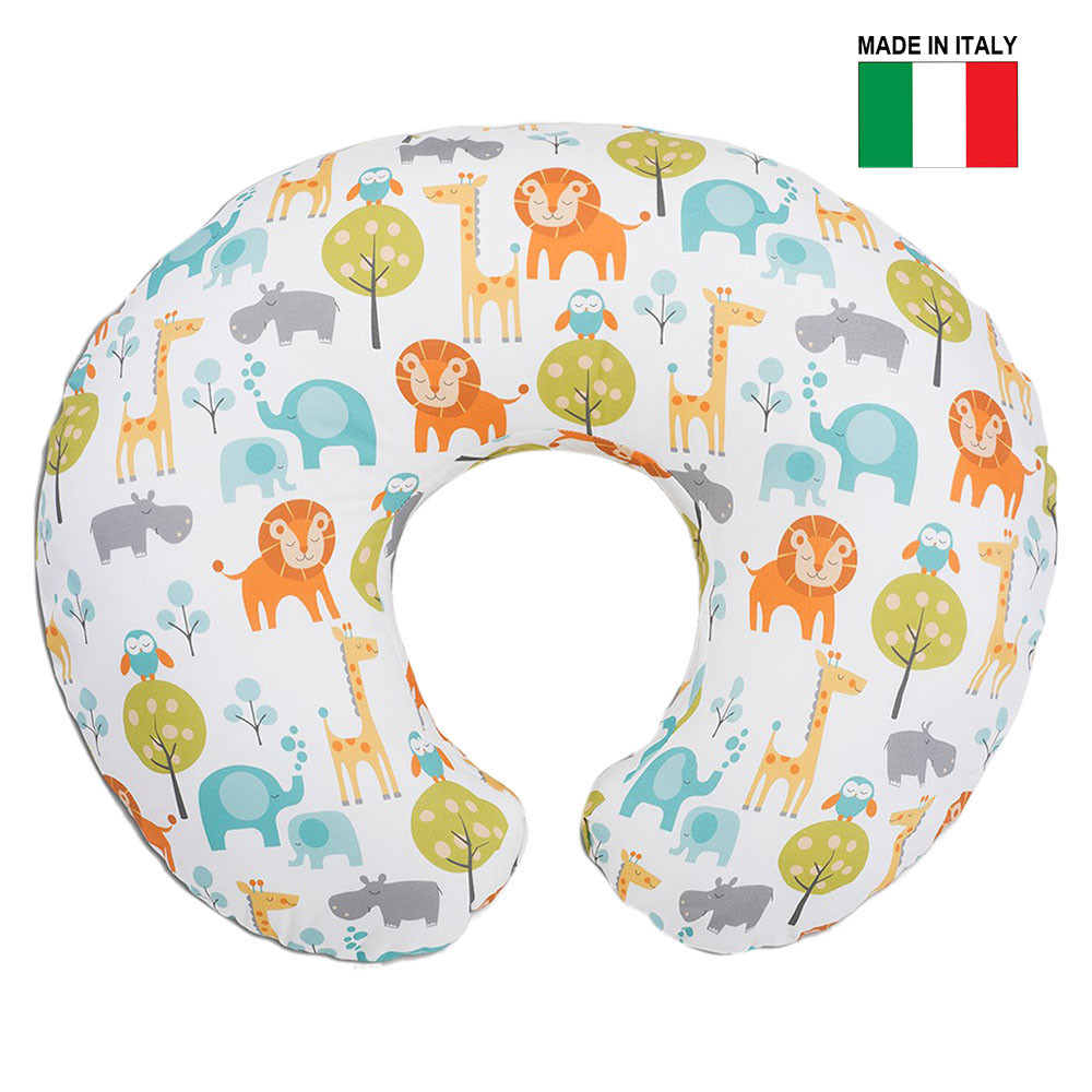 29ae312b6ae Chicco - Boppy Pillow with Cotton Slipcover -Peaceful Jungle