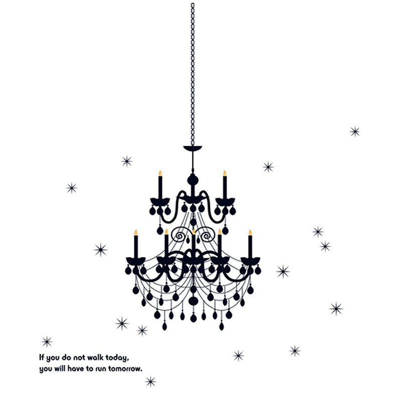 Black chandelier wall decal large stickieart black chandelier wall decal large mozeypictures Images