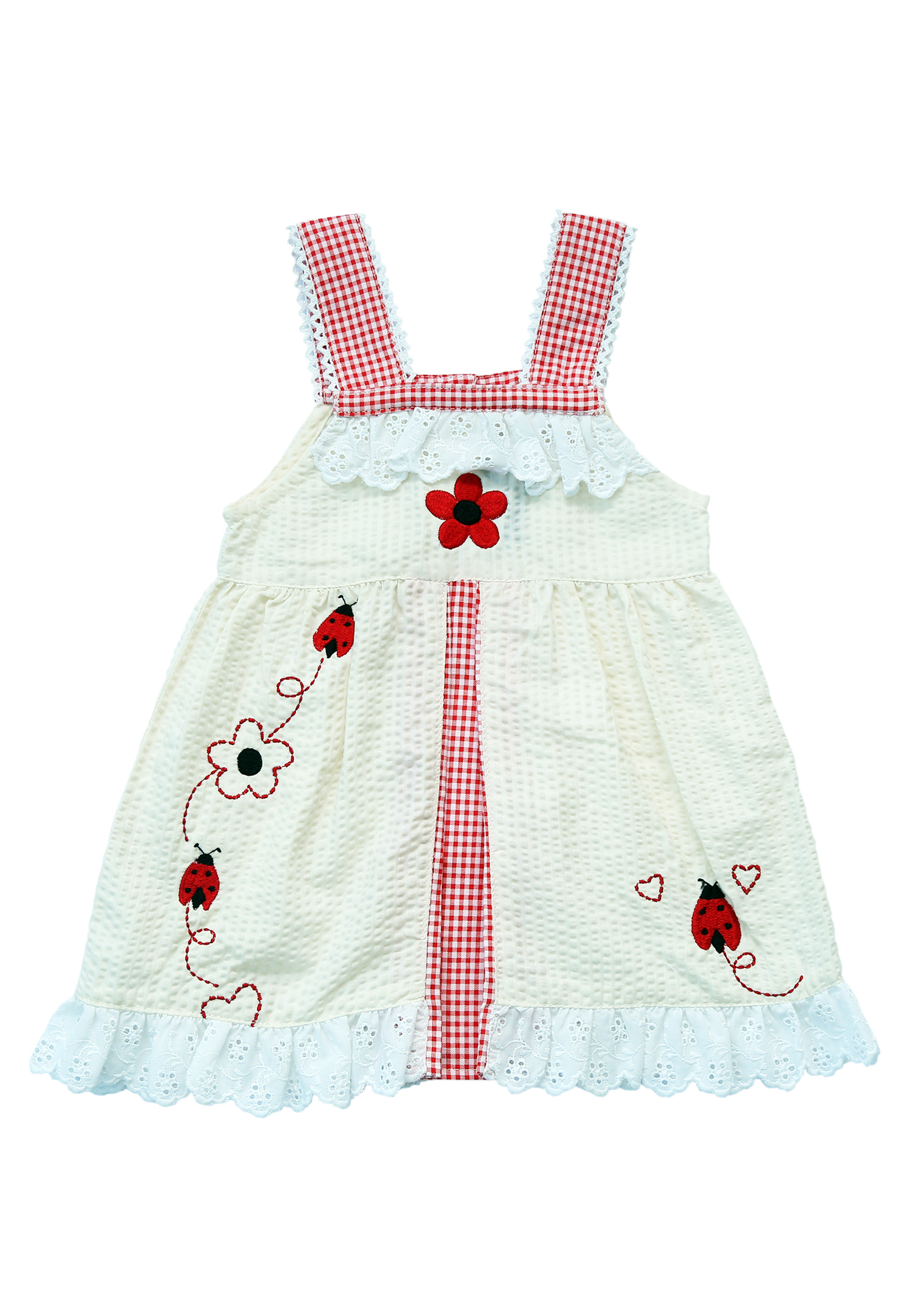 Chocolate Baby Ladybug Casual Dress Yellow Baby Clothes 0 2