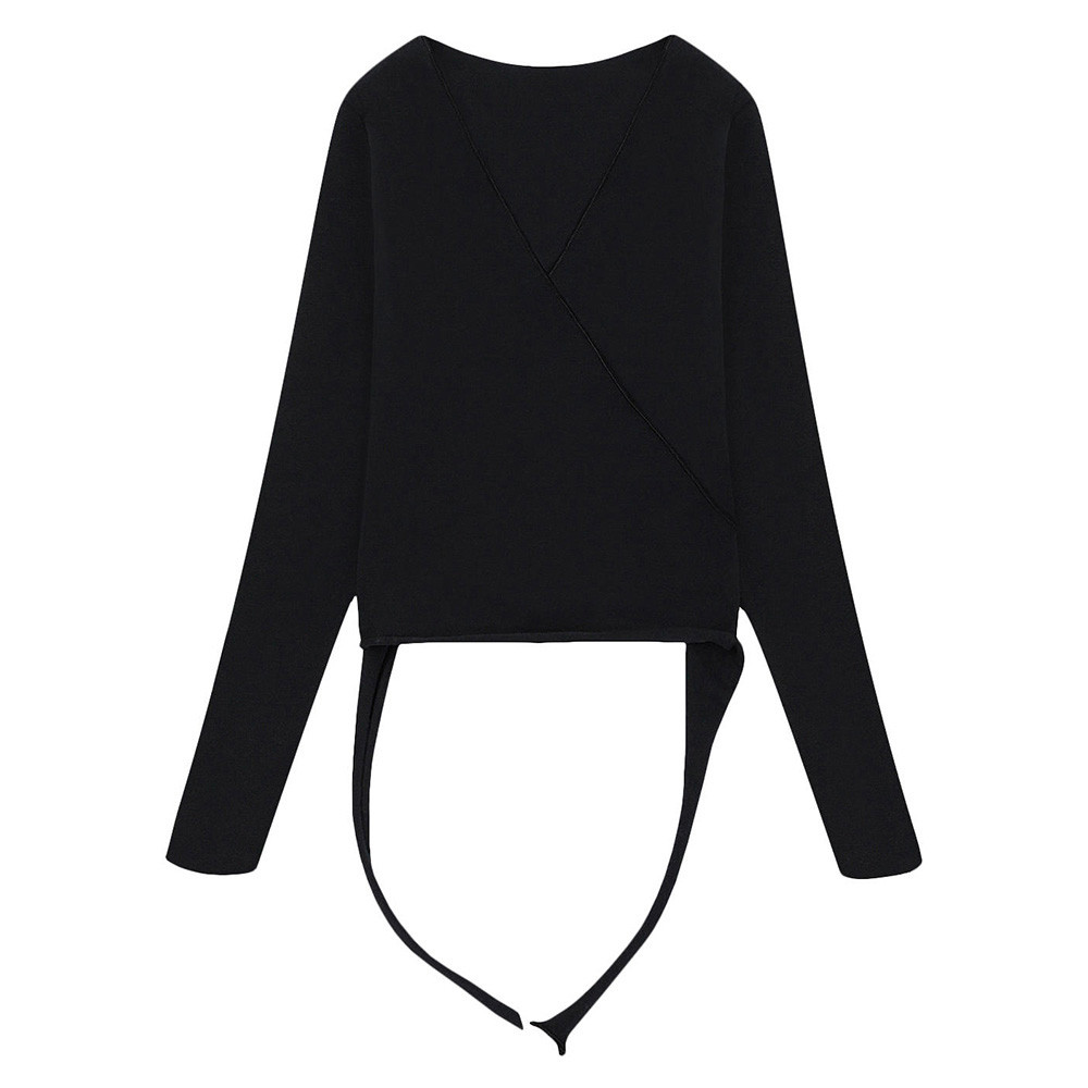 Wrap Sweater - Black