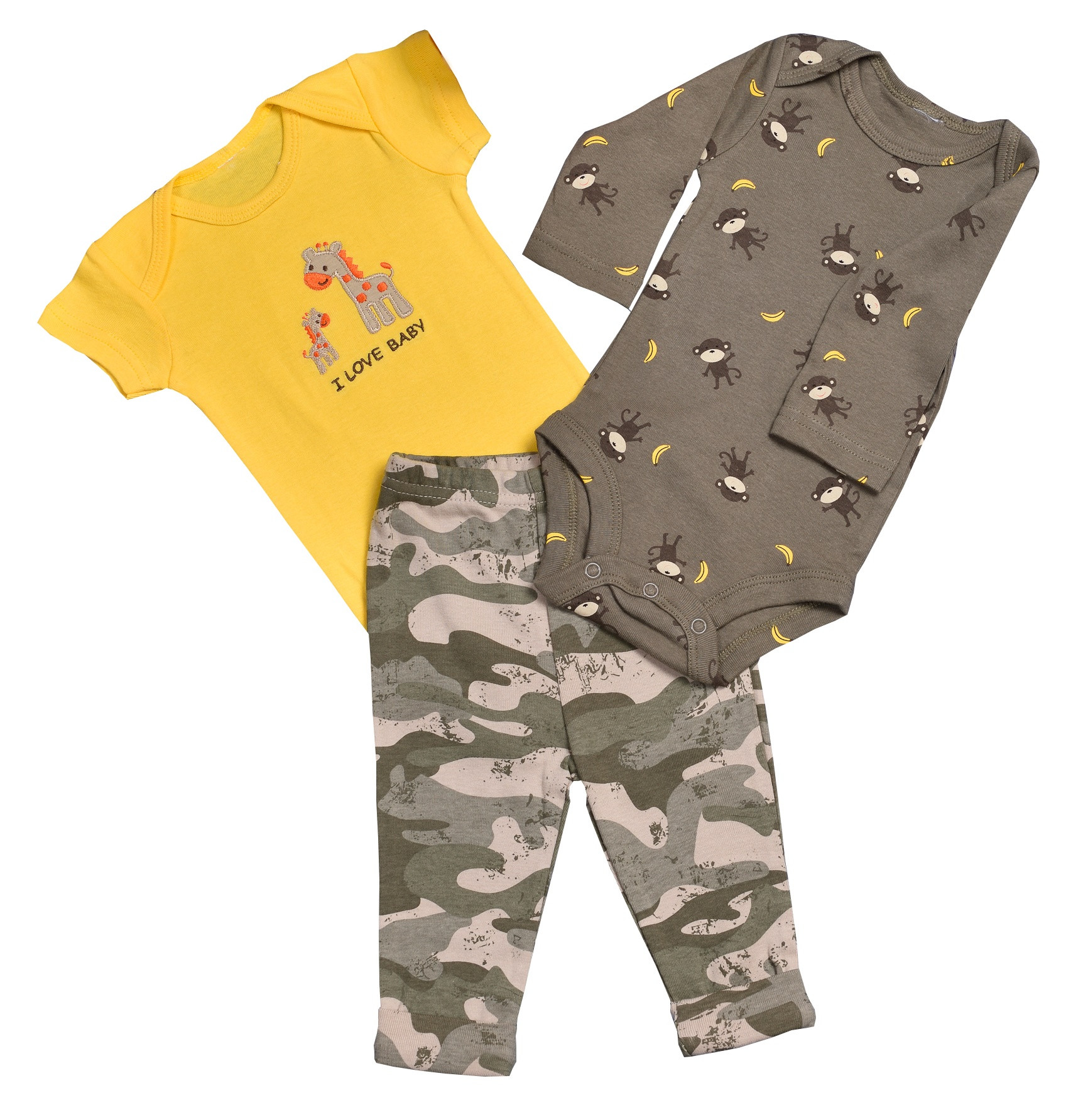 Mini Habibi Fancy Set Yellow 3 Pieces Baby Clothes 0 2