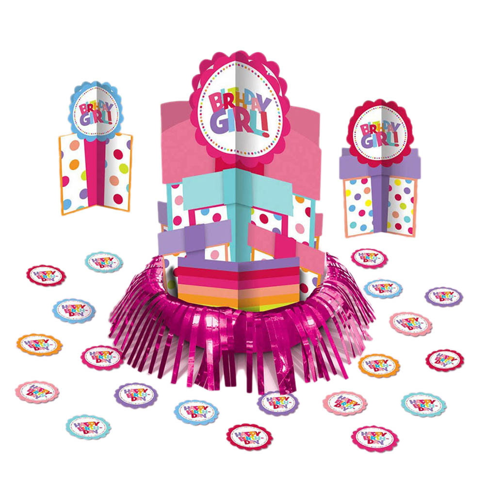 Happy Birthday Girl Table Decorating Kit