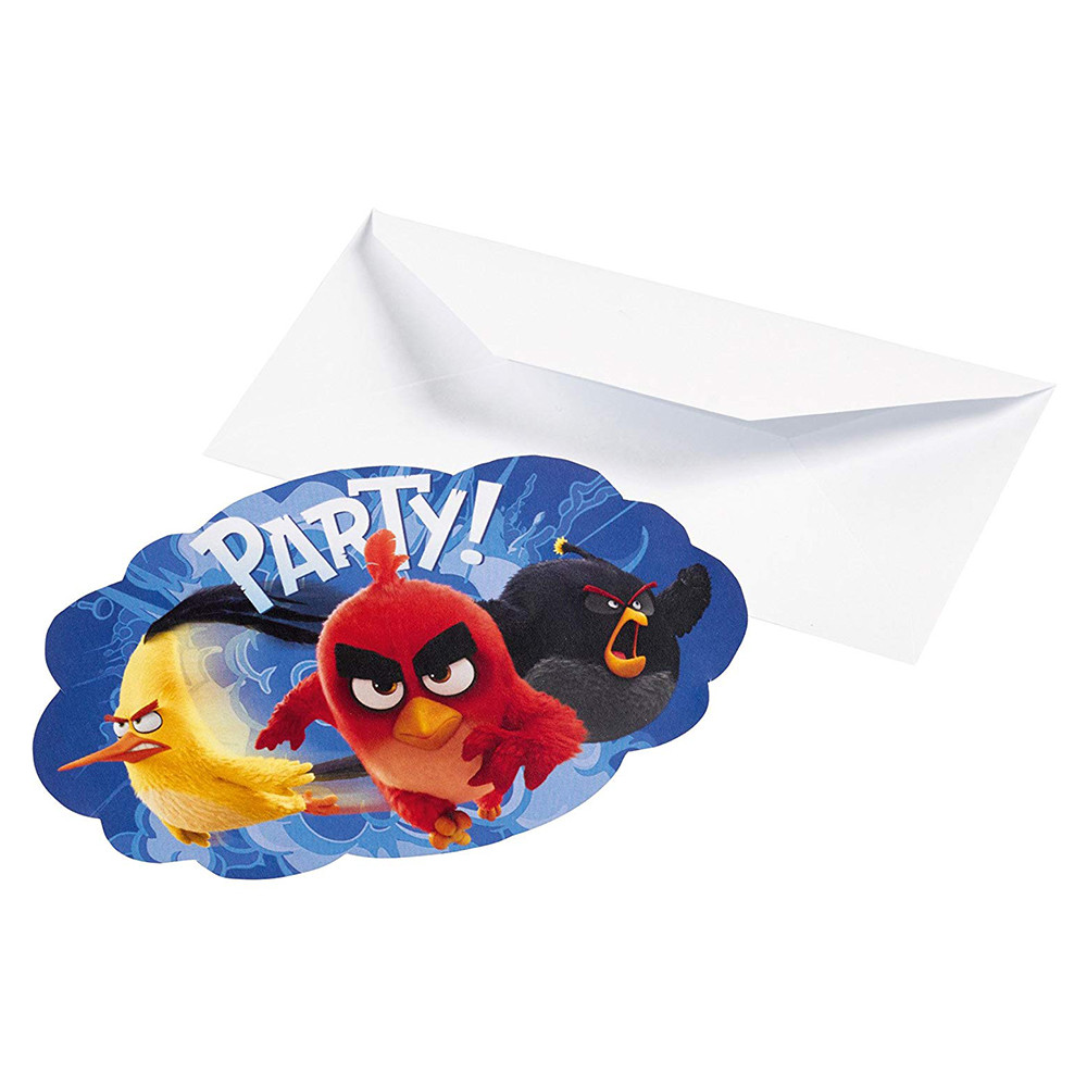 Amscan - Angry Birds Movie Postcard Invitations 8pcs