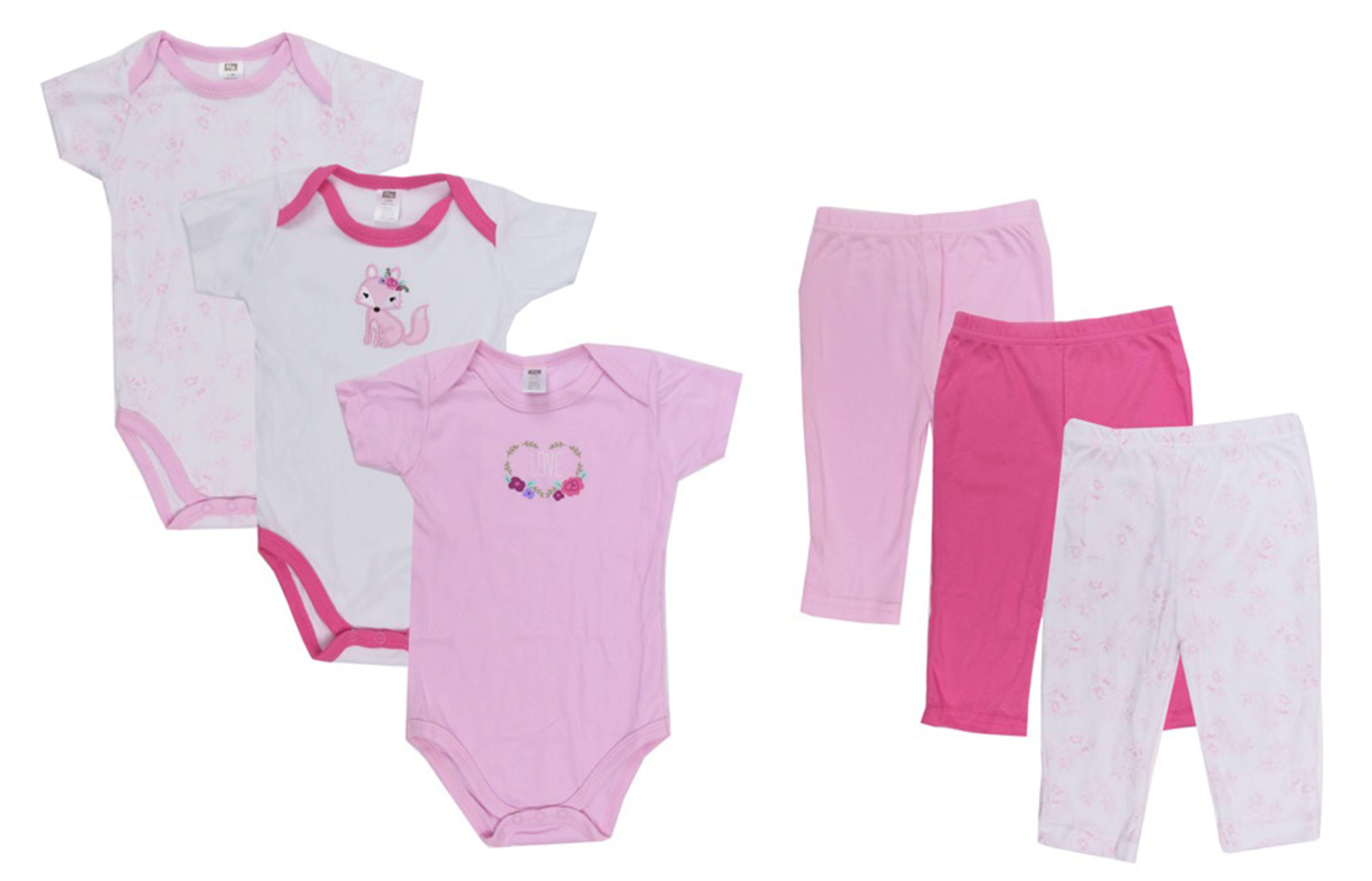 Baby Grow w Me Baby Clothing Gift Set Girly Fox