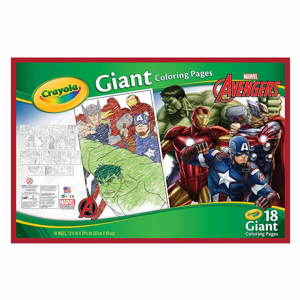 Crayola - Avengers Giant Coloring Pages