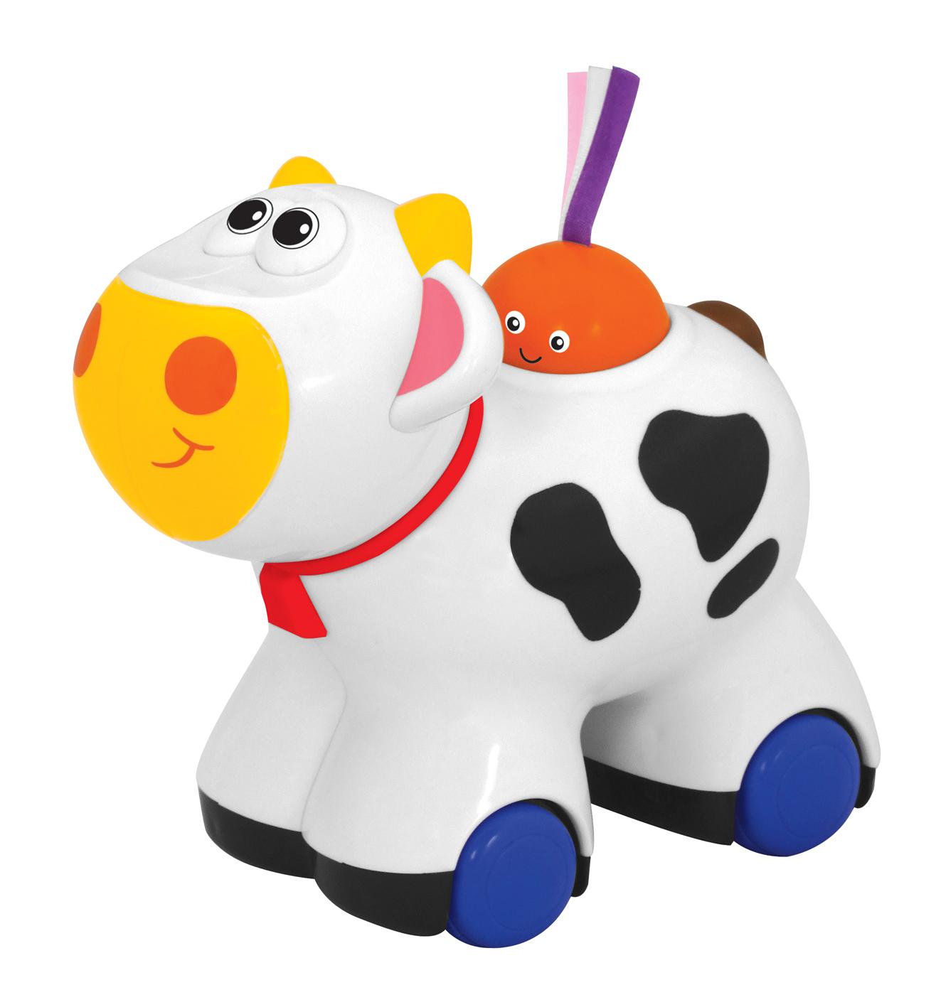 Kiddieland Push N Go Moo Moo Cow