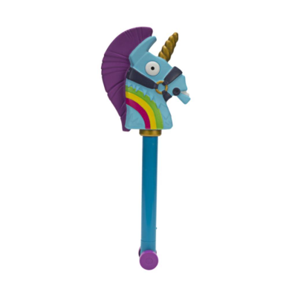 عصا اللعب بشخصية لاما بتصميم قوس قزح من ماركة فورت نايت