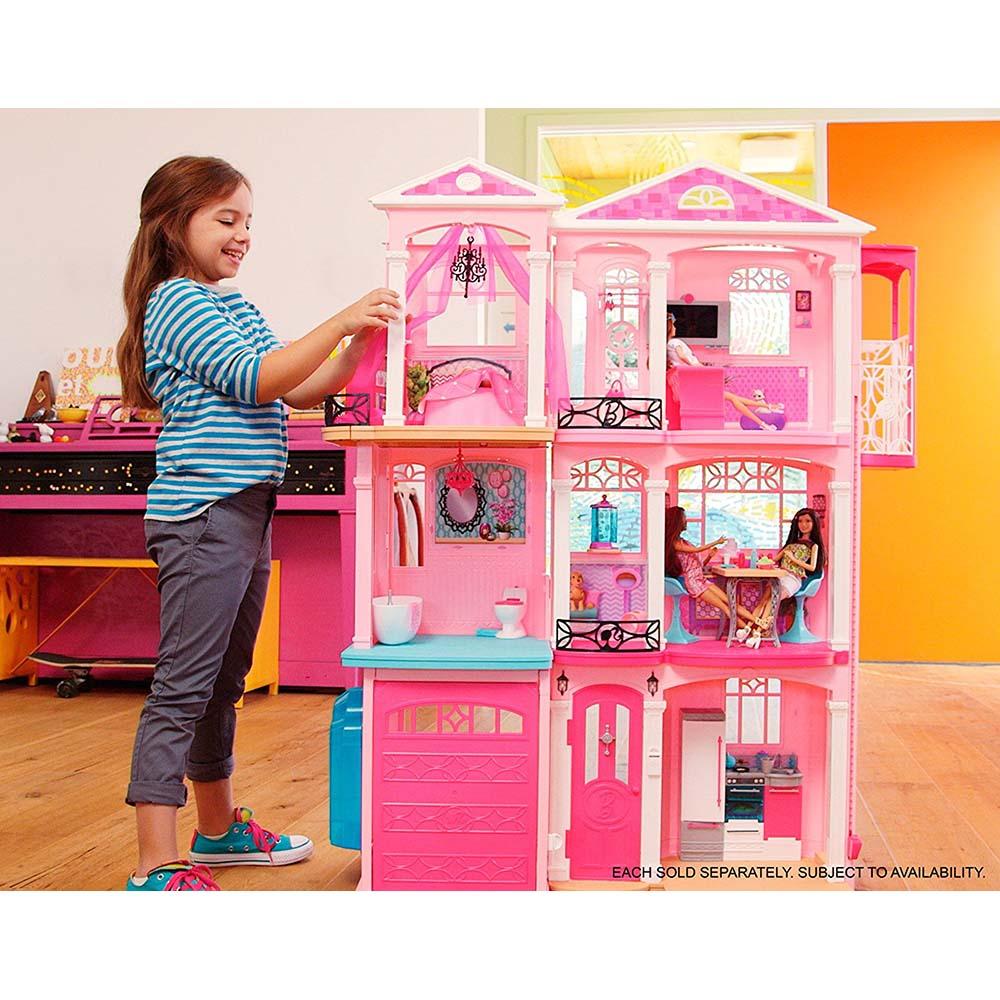 بيت باربي خشب بشكل مميز وجميل الطول Alfahad Toys Centre