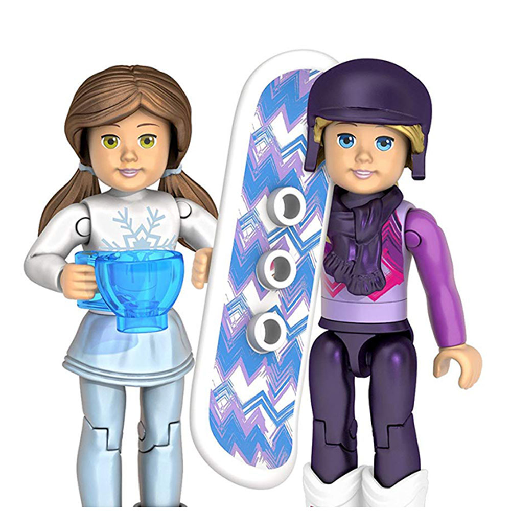 Mega Construx American Girl Calender Set with Winter Figures /& Free Gift