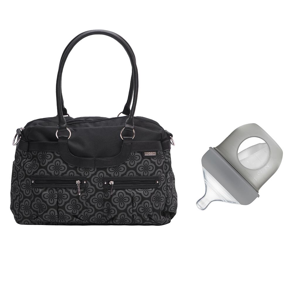 Jj Cole Satchel Diaper Bag Charcoal Infinity Boon Nursh Silicone 4oz Bottle