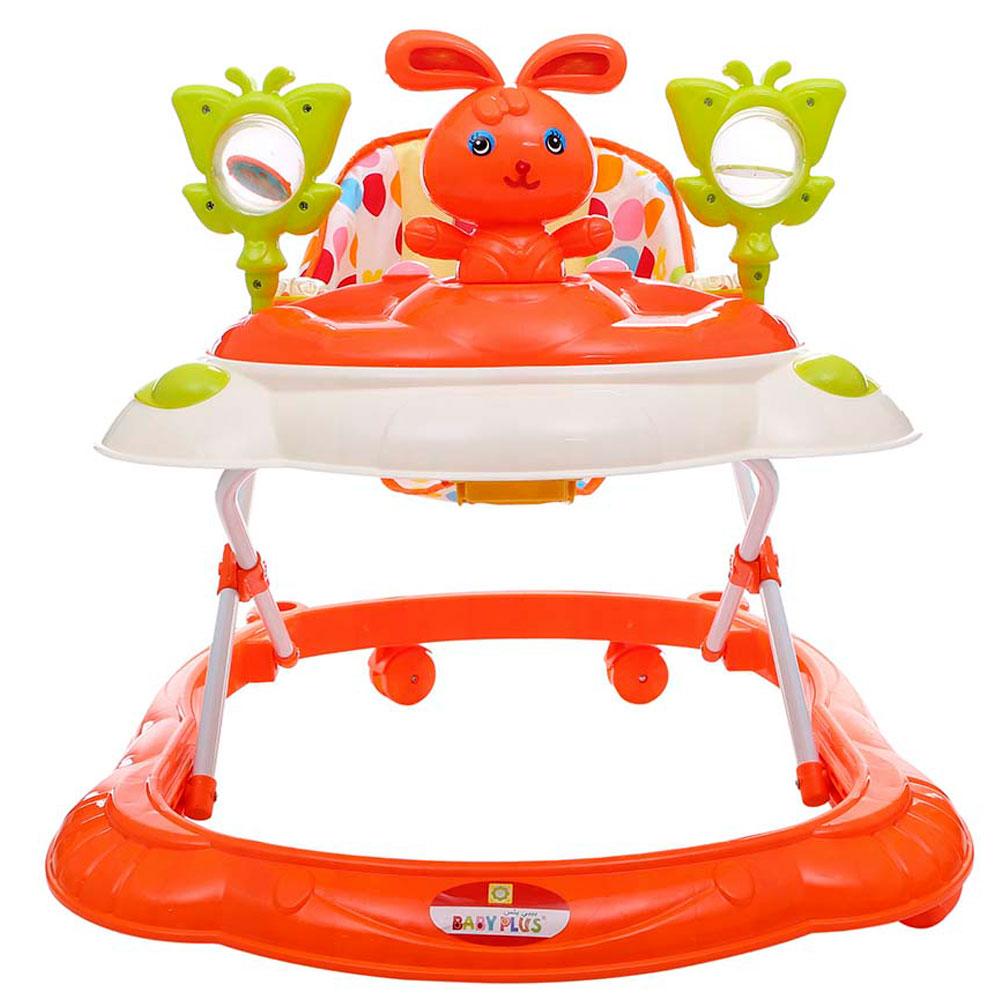 مشاية الاطفال من بيبي بلس مقاس 68.5 × 15 × 60 سم، لون برتقالي BP8140