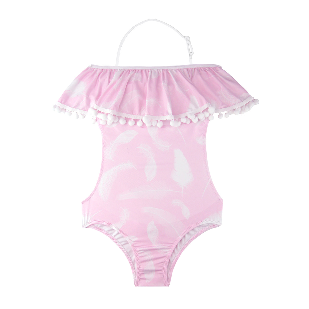 c41e281fd7 Stella Cove Pink Feather Ruffle Bathing Suit