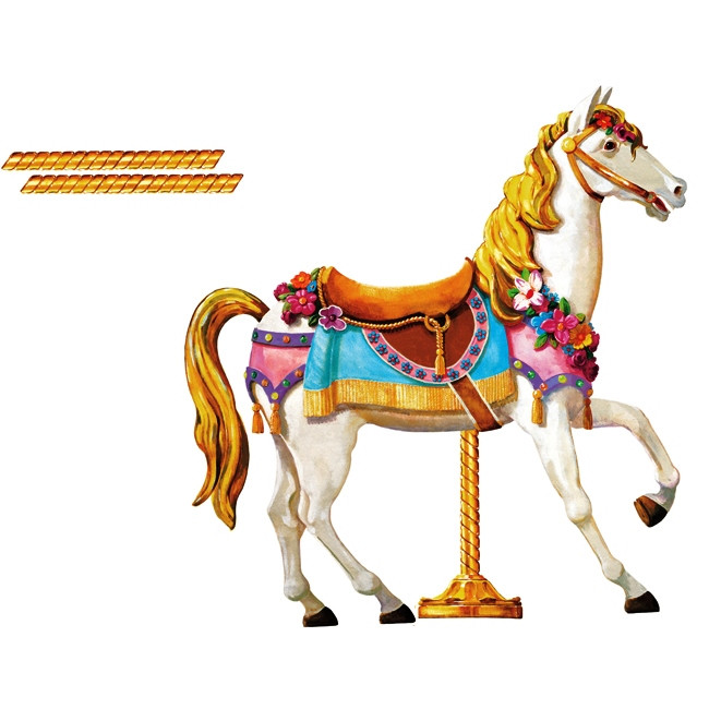 carousel horse giant wall decal