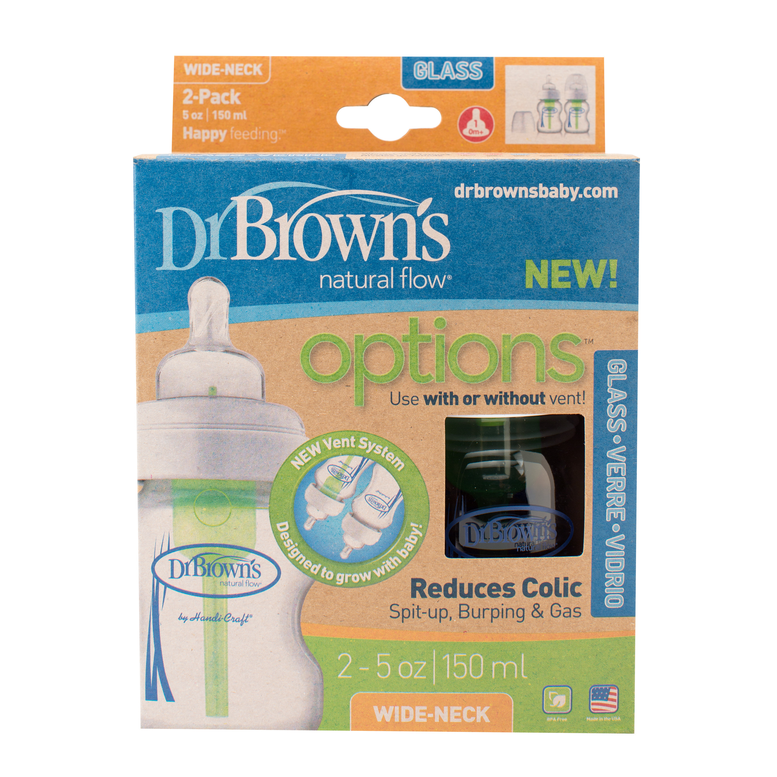 Dr Brown S Options Bottle Gift Set Blue Ideas Drbrowns Wide Neck Pp Baby Pink Wb933 Browns Gl 2pack 5oz