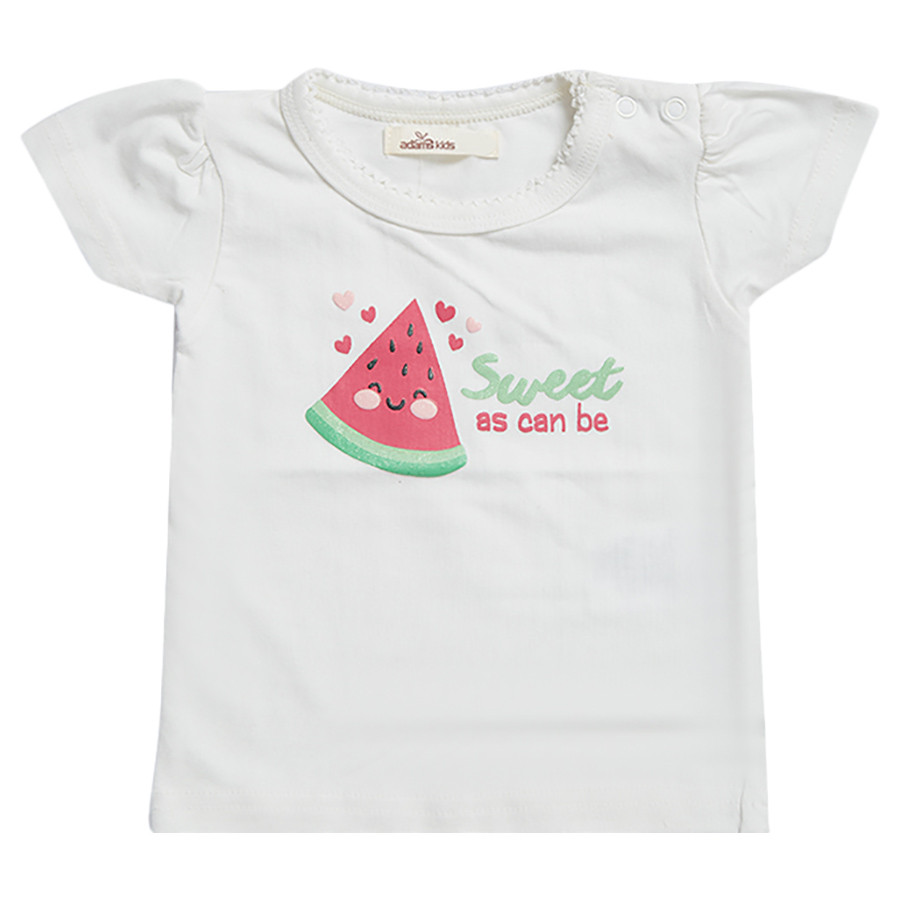 c7c952de2 Adam Kids - Watermelon Graphic T-Shirt - Egret