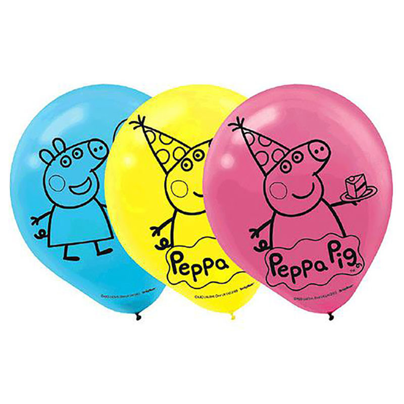 ef8e22a6a3 Amscan - Peppa Pig Birthday Party Balloons Pack of 6