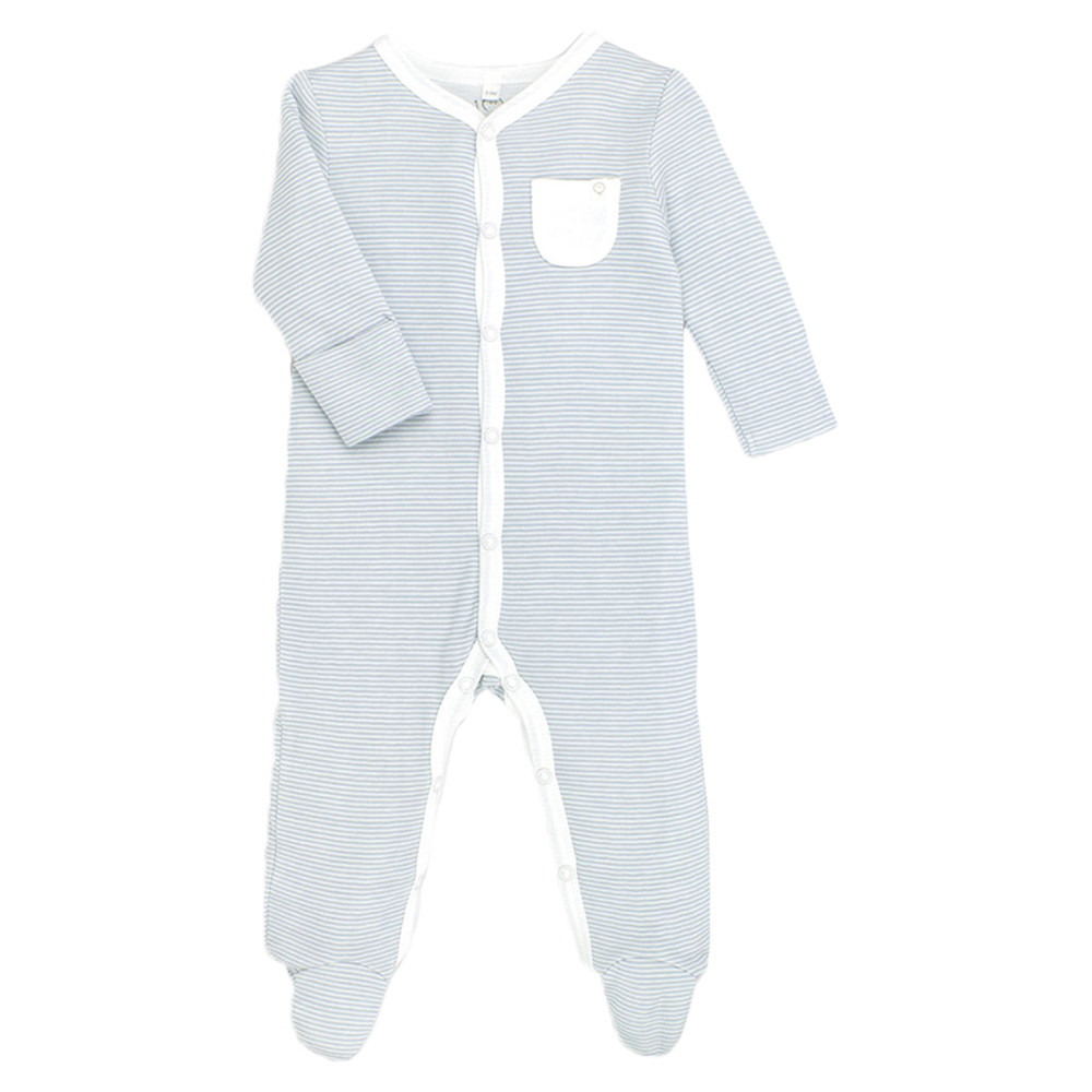 69270051667a Mori - Front-Opening Sleepsuit - Blue Stripe