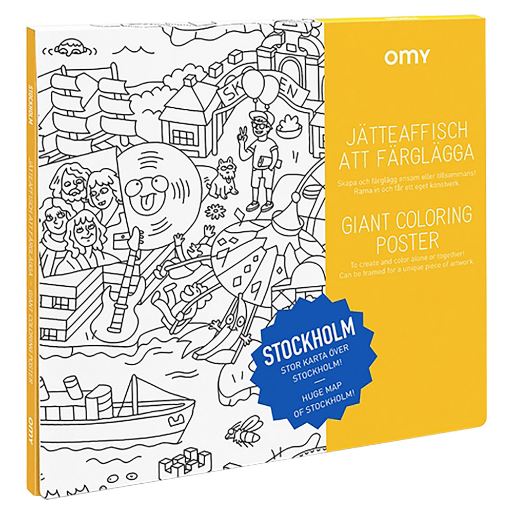 OMY - Giant Coloring Poster Stockholm