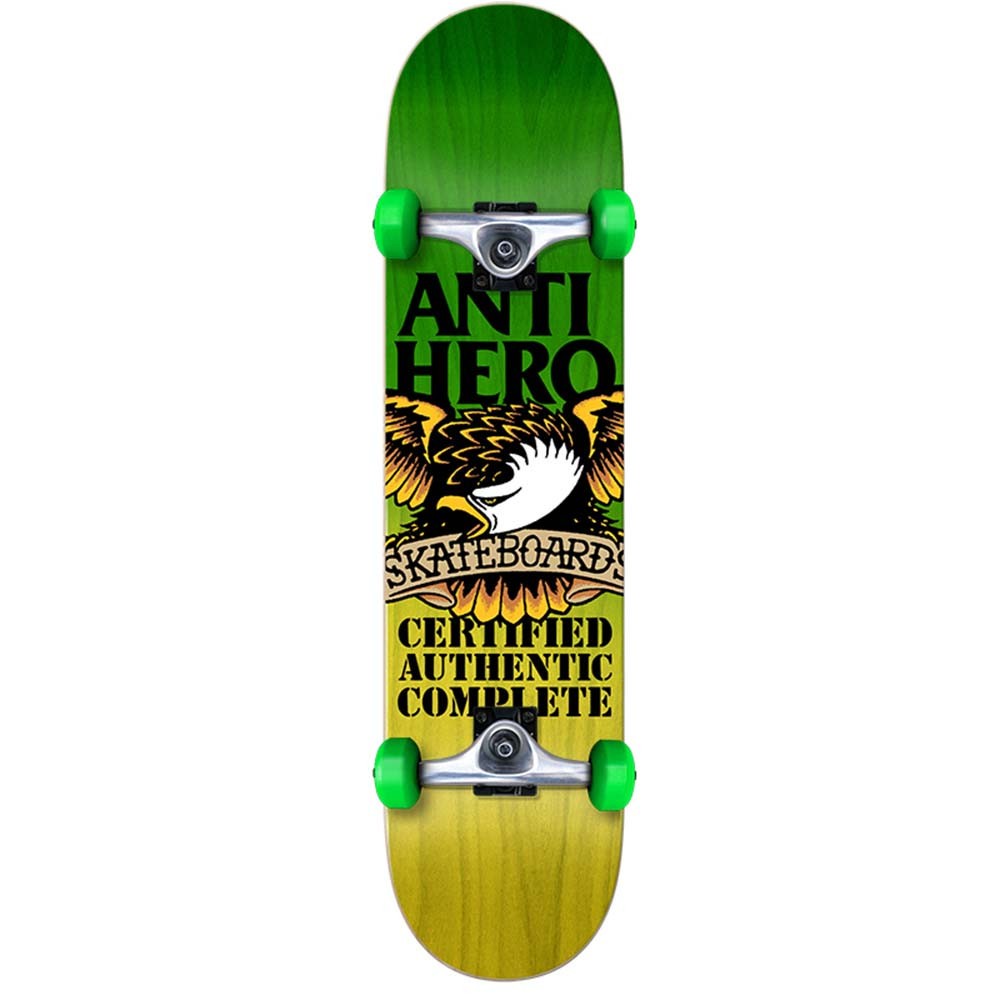 b4b8205dfda Anti Hero - Skateboard - Certified Fades 7.75 - Green