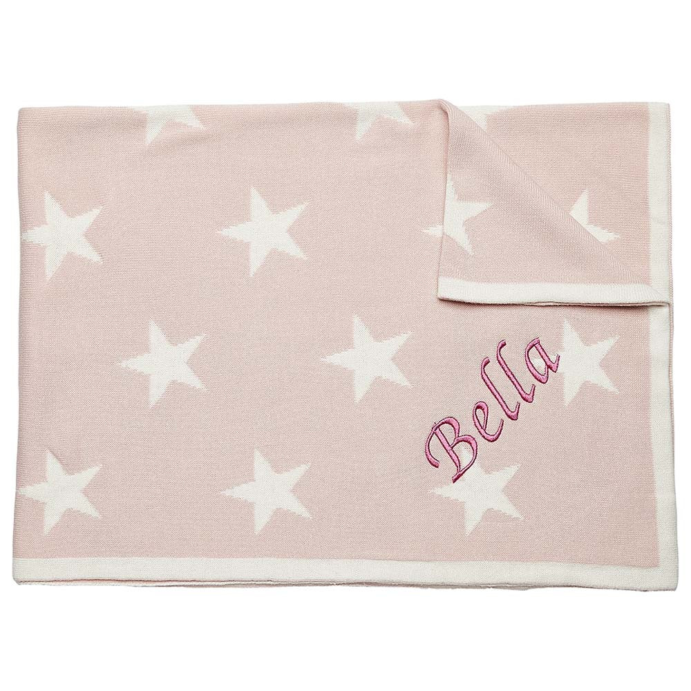 d12a3bfed My 1st Years - Personalised Star Blanket - Pink