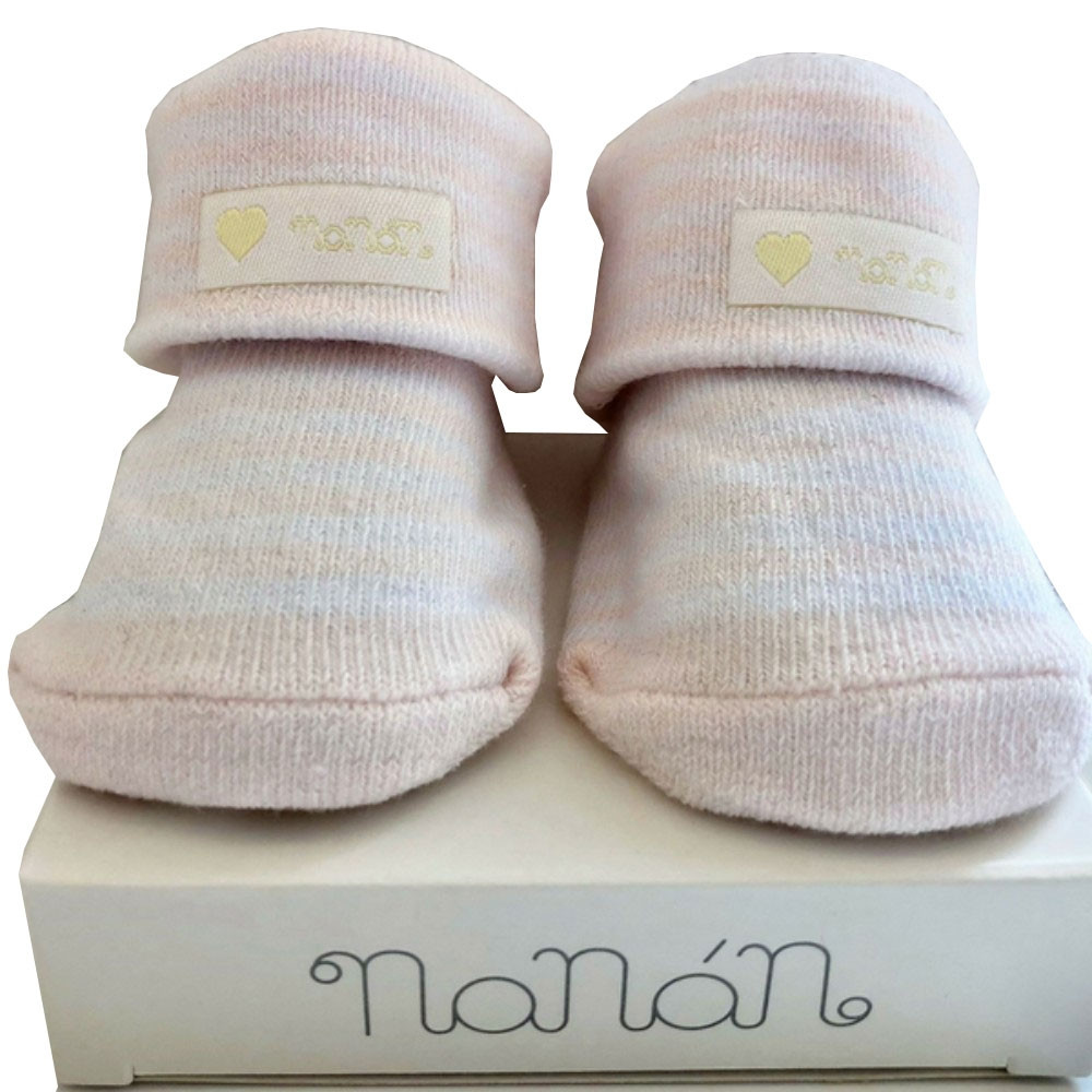 eb4abe1e6420 Bea e Martina - Nanan Striped Socks - Pink