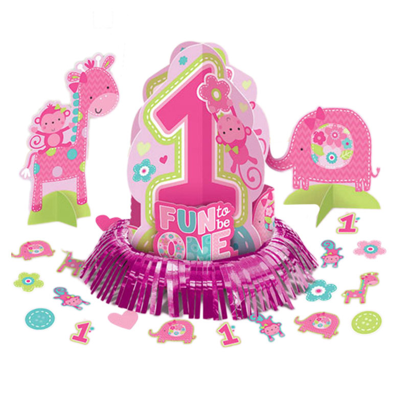 Party Centre One Wild Girl 1st Birthday Table Decorating Kit