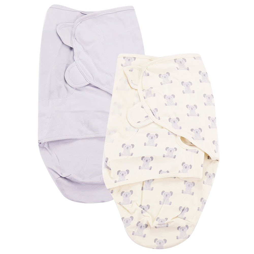 Hudson Baby Baby Swaddle Wrap 2pc Set Teddy Bear