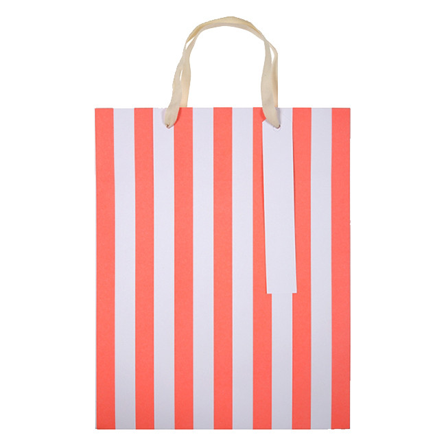 3832afa4cc Meri Meri - Neon Stripe Gift Bags Large Pack of 3 - Red