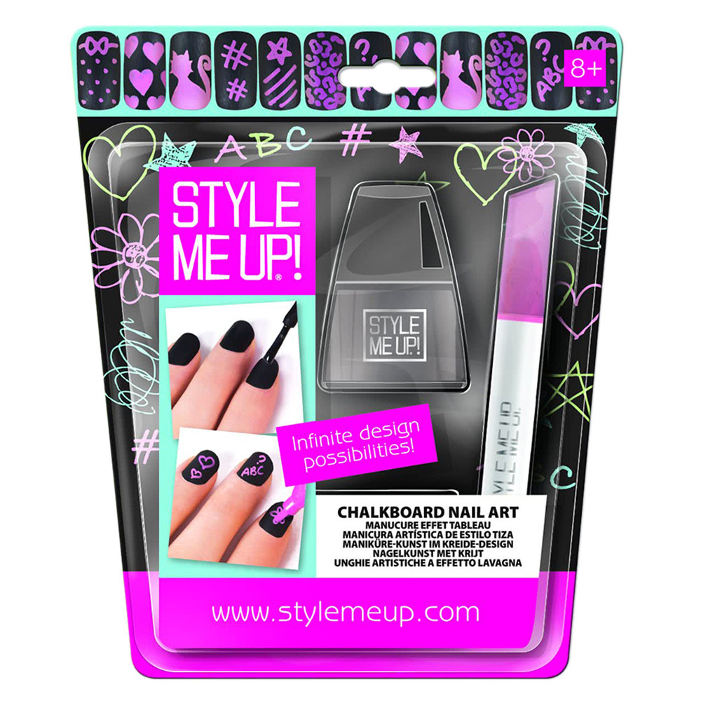 Style Me Up Nail Effect Chalkboard Pink