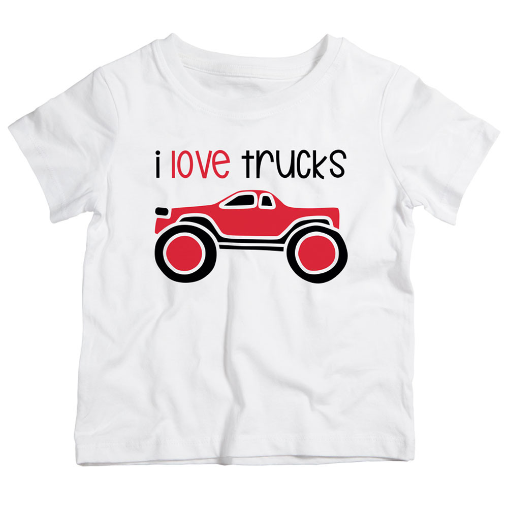 b246957a Twinkle Hands - I Love Trucks T-Shirt - White