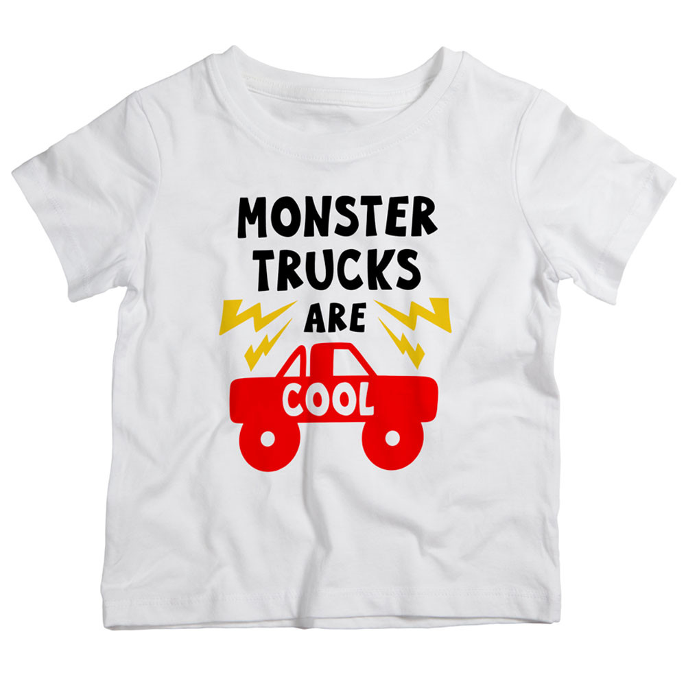 dafe7bb0 Twinkle Hands - Monsters Trucks Are Cool T-Shirt-White