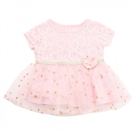 cdc10fa3d Adam Kids - Stars Printed Lace Tutu Dress - Pink