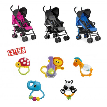 Chicco - Echo Stroller with Bumper Bar with Free Rattle Toys