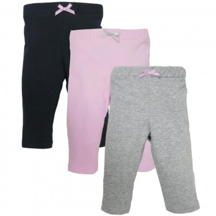 24115e628 Luvable Friends - Baby Pants 4-Pack - Light Pink