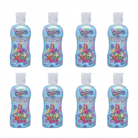 Shopkins - Hand Sanitizer (No Alcohol) 60ml - Pink (Pack of 8)