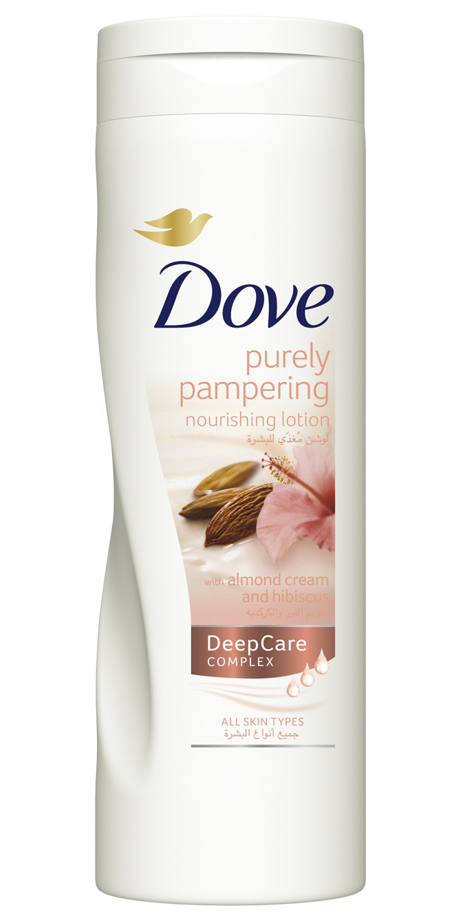 Dove Purely Pampering Nourishing Lotion With Almond Cream And Deep Pure Facial Foam 100 Gr Hubiscus 400ml