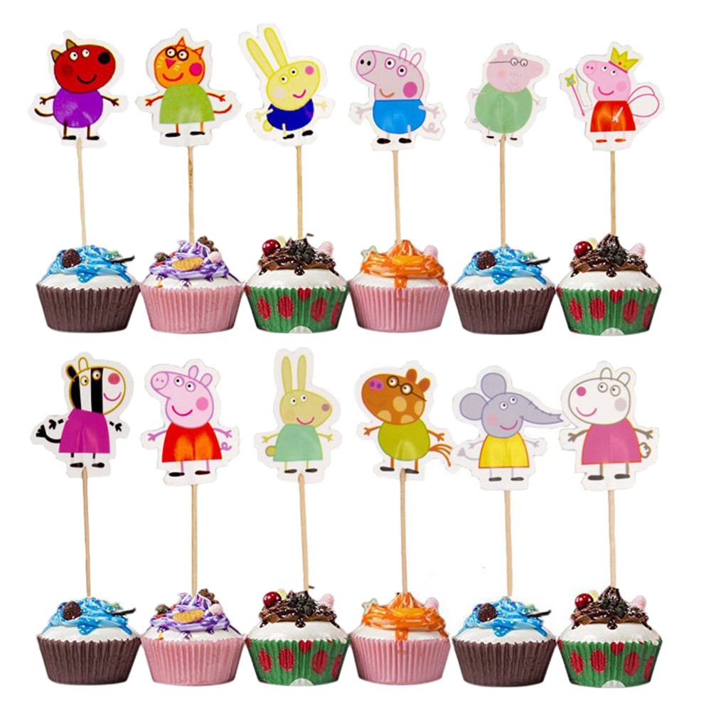 12546d54085cf Peppa Pig - Cupcake Toppers Party Pack for 24 Cupcakes