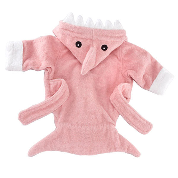 962f922b45dc Baby Aspen - Let The Fin Begin Pink Shark Robe - Pink