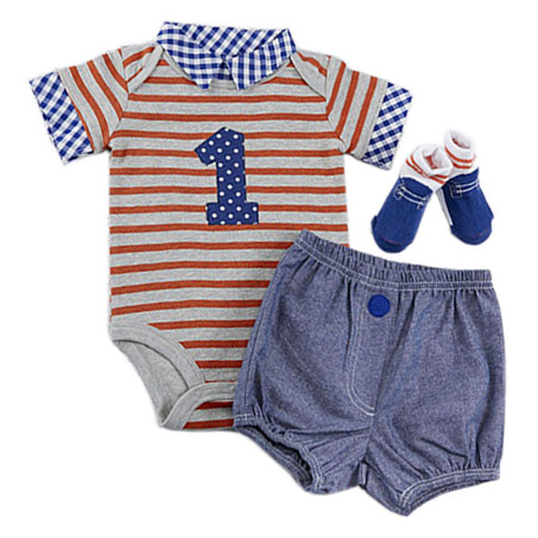 526863838 Baby Aspen - My First Birthday Dapper Dude Outfit 3pcs