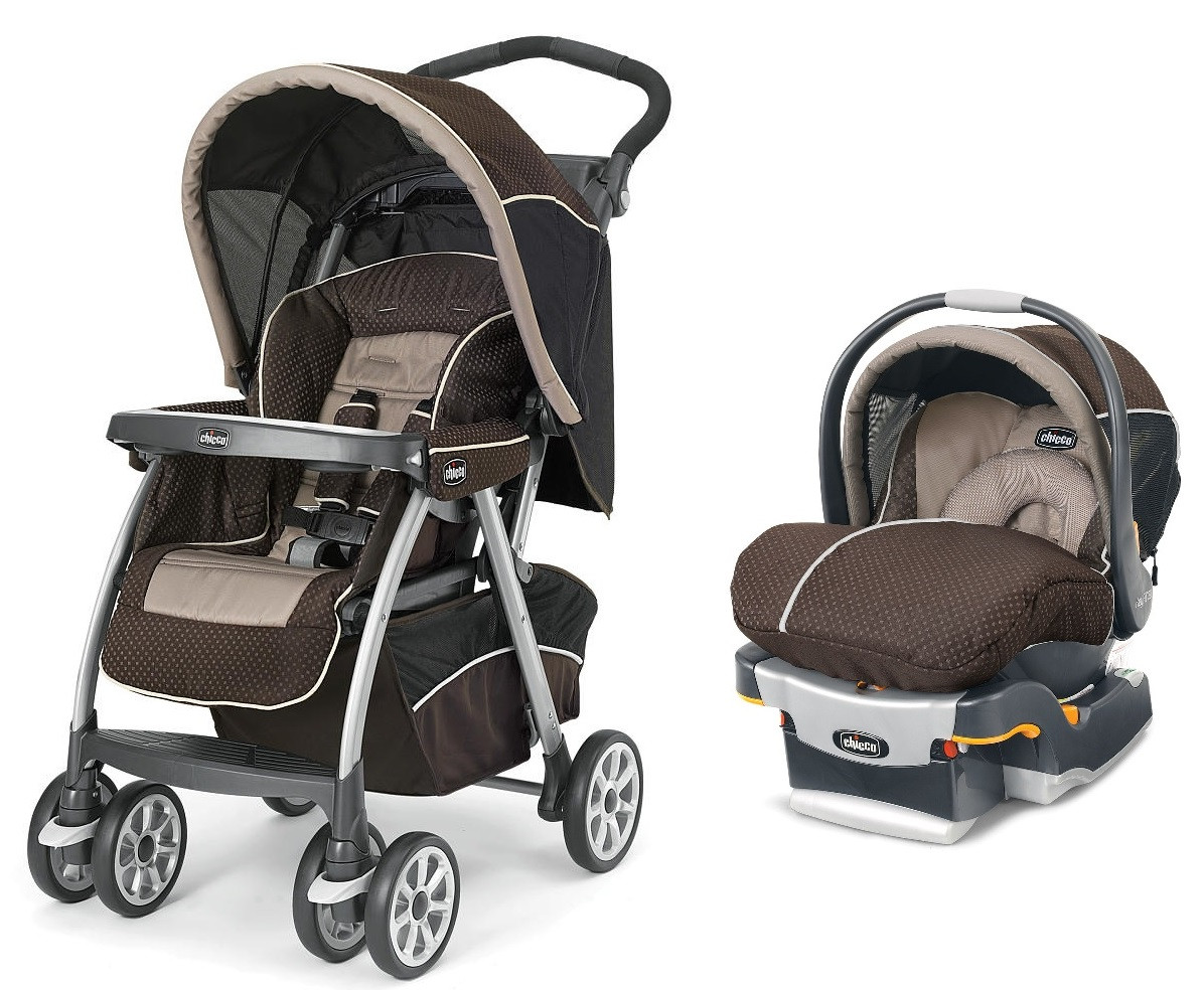 Chicco Cortina Travel System Magic KeyFit 30 Infant Car Seat Shale